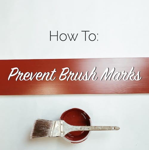 how to prevent brush marks
