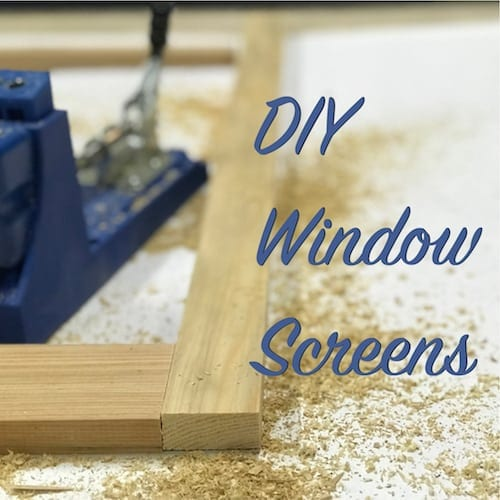 diy window screens