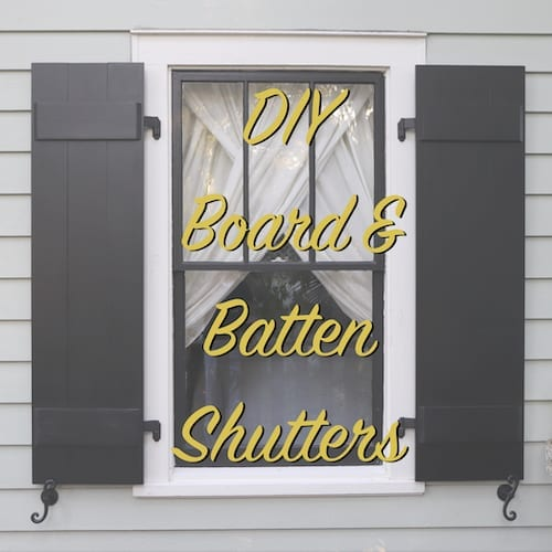 Diy Board And Batten Shutters The Craftsman Blog