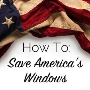 how to save america's windows