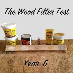 wood filler test