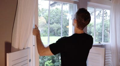 storm window installation