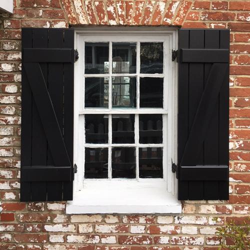 historic wood shutters